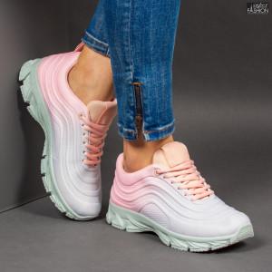 Pantofi Sport ''ABC J1836 Grey Pink'' [D2B4]