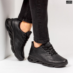 """Pantofi Sport """"ALD Fashion HQ-103-069 Black''"""