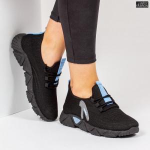 Pantofi Sport ''ALD Fashion HQ-202-233 Black W. Blue''