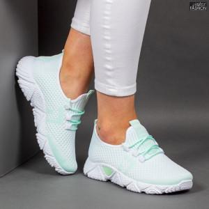 Pantofi Sport ''ALD Fashion HQ-203-245 White L. Green''