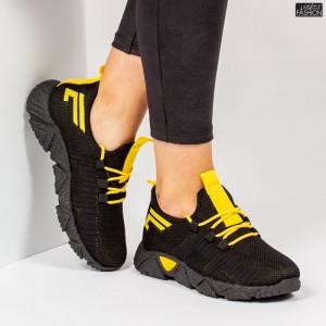Pantofi Sport ''ALD Fashion HQ-205-249 Black Yellow'' [D21E6]