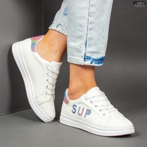 Pantofi Sport ''ALL Fashion A23 White Blue'' [D13E4]