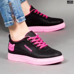 Pantofi Sport ''BAO SPORT 1606 Black Fucsia'' [D10C7]