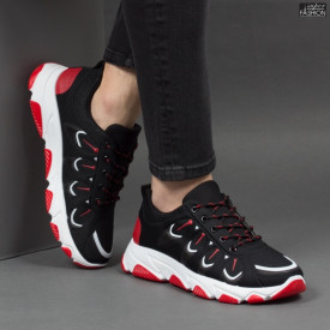 Pantofi Sport ''Fashion Balq G-001 Black Red''
