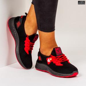"Pantofi Sport ""Meek A-29 Black Red"""