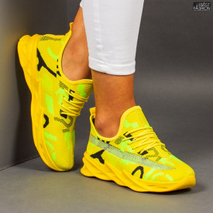 "Pantofi Sport ""Meek B-11 Yellow Green Black"""