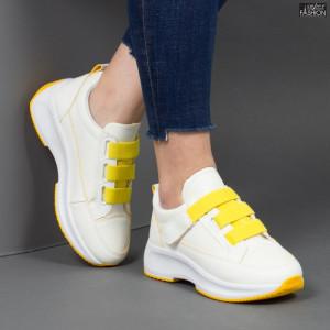 Pantofi sport ''Mei XC7 White Yellow'' [D19E4]