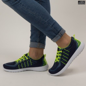 Pantofi sport ''NoName 1493 Navy/Green'' [D10C1]