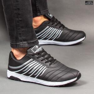 Pantofi Sport ''RED STAR Fashion C-26 Black Silver'' [S17C4]
