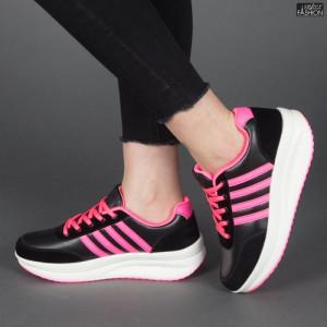 Pantofi sport ''Sport Shoes 03 Black Flourescent Poweder'' [D8C1]