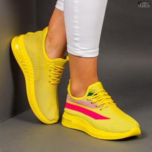 """Pantofi Sport """"Z Fashion ZA-77 Yellow"""" [D11A1]"""