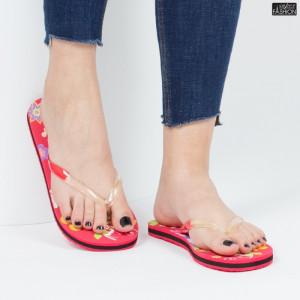 papuci dama cu aspect floral