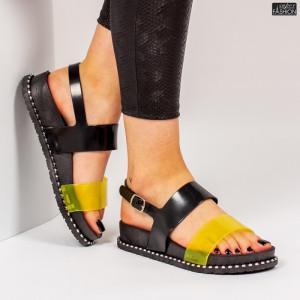 Sandale ''ALD Fashion HQ-L6092 Black Yellow'' [D7E9]