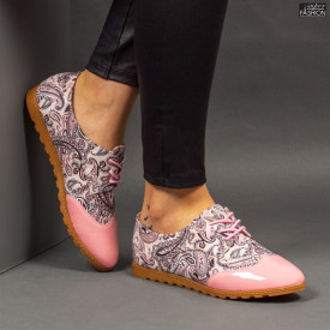 Pantofi ''Feet Fashion B72 Flowers Pink'' [D10E2]