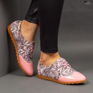 Pantofi ''Feet Fashion B72 Flowers Pink''