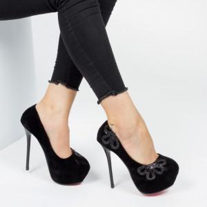 Pantofi ''Mei Fashion M888-18 Black'' [LE4]