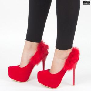 Pantofi ''Mei HLX1502 Red'' [D2F9]