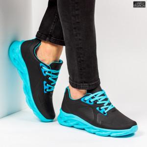 "Pantofi Sport ""ALD Fashion HQ-107-083 Black Blue''"