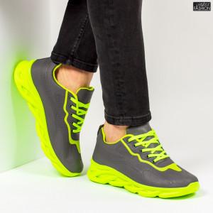"Pantofi Sport ""ALD Fashion HQ-111-107 Grey Green''"