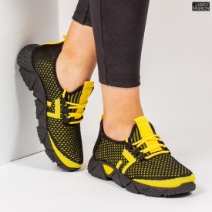 Pantofi Sport ''ALD Fashion HQ-203-239 Black Yellow'' [D19E2]