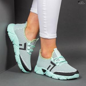 Pantofi Sport ''ALD Fashion HQ-203-248 L. Green Black'' [D10E3]