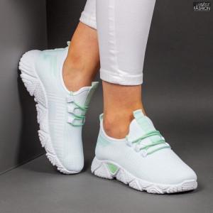 Pantofi Sport ''ALD Fashion HQ-205-253 White L. Green'' [D9D1]