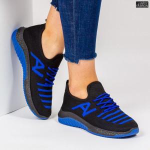 Pantofi Sport ''ALD Fashion HQ-3-21 Black Blue'' [D12E2]