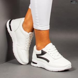 """Pantofi Sport """"ALL Fashion B12 White Black"""""""