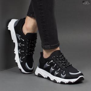Pantofi Sport ''Fashion Balq G-001 Black Grey'' [S21B2]