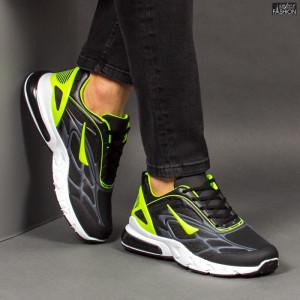 Pantofi Sport ''Fashion Balq N-05 Black Green'' [S10D10]