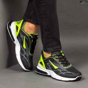 Pantofi Sport ''Fashion Balq N-05 Black Green''