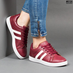 Pantofi Sport ''Veer Fashion A1803-4 Wine Red'' [D12E6]