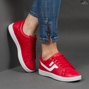Pantofi Sport ''Veer Fashion A1810-5 Red'' [D9E8]