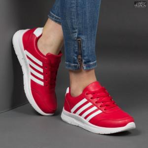 Pantofi Sport ''Veer Fashion A1817-5 Red'' [D15E8]