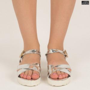 sandale dama argintii
