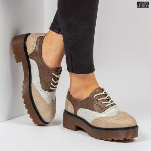 Pantofi ''Lavy Fashion GQ20 Beige'' [D4E12]