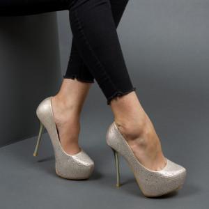 Pantofi ''Mei Fashion OLG1F02 Gold'' [LE9]