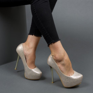Pantofi ''Mei Fashion OLG1F02 Gold''