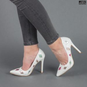 Pantofi ''Mei WT18303 White'' [D2F10]