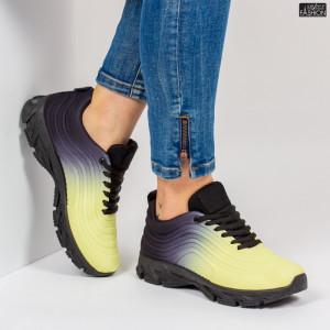 Pantofi Sport ''ABC J1836 Yellow Black''