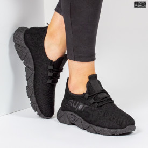 Pantofi Sport ''ALD Fashion HQ-201-222 All Black'' [D14E5]