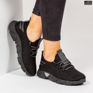 Pantofi Sport ''ALD Fashion HQ-205-250 Black Grey'' [D14E3]