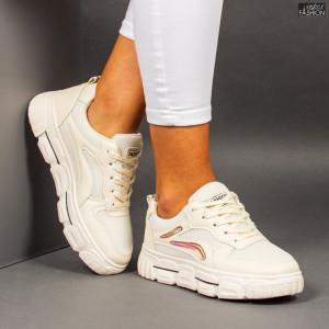 "Pantofi Sport ""ALL Fashion 317 Beige"""