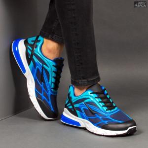 Pantofi Sport ''Fashion Balq N-05 Black Blue'' [S21C1]