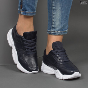 Pantofi sport ''Lavy W-7 Black Blue'' [D19C9]