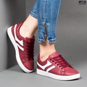 Pantofi Sport ''Veer Fashion A1811-4 Wine Red'' [D8E7]