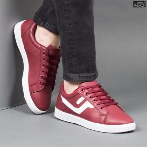 Pantofi Sport ''Veer Fashion B2810-4 Wine Red'' [S3D1]