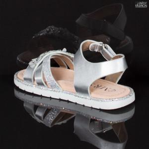 sandale fete gri