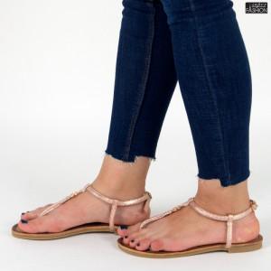 sandale dama roz piersica