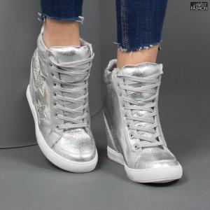 Sneakers ''Buonarotti 1G-17088 Silver'' [D13F10]